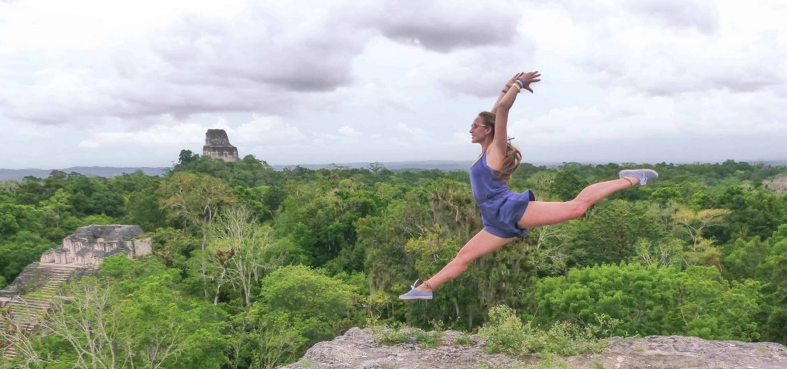 Leap on top of tikal